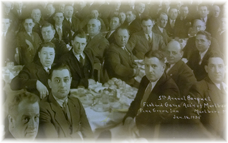 5th Annual Banquet, Fish and Game Ass'n of Marlboro, Pine Grove Inn - Marlboro Mass. Jan. 16, 1935
